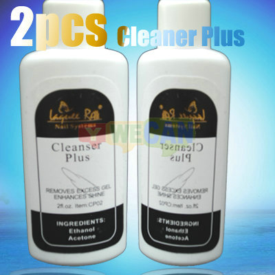 2x Nail Art Acrylic UV Gel Remover Tip Cleanser Plus Clean