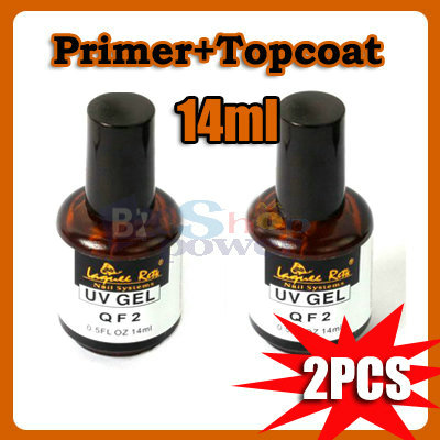 2X Top Coat Primer Base Gel Nail Art UV Gel Polish For UV Gel Nails Application
