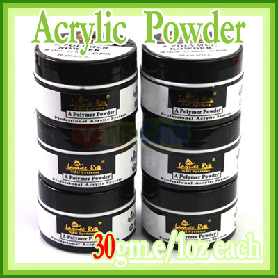 6x All Clear POLYMER Nail ART Acrylic Powder For Acrylic Systems Wholesale