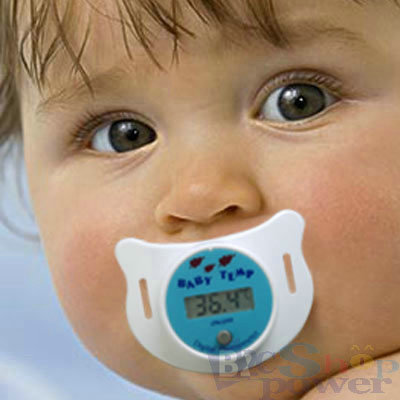 Infant Baby Nipple Digital Binky Pacifier Thermometer