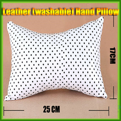 B/W Leather Hand Cushion Pillow for Nail Art make up tool Manicure Easy Wash
