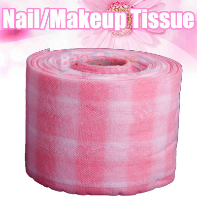 Pink Tissue Cloth Wipe Cutton Paper For Nail Art UV Gel Acrylic Polish Remover 18M