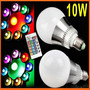E27 10W 85-265V Color Changing RGB LED Light Lamp Bulb with Remote Control