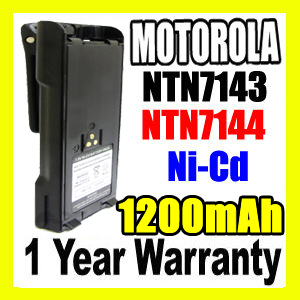 MOTOROLA NTN7143 Two Way Radio Battery,NTN7143 battery