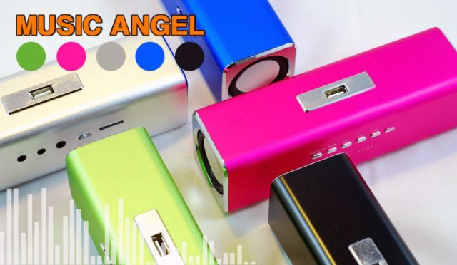 Music Angle Sports MP3 Player Mini Speaker -TF/USB-FM
