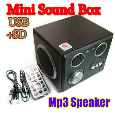 Mini Sound box/Boombox MP3 Mobile Speaker SD/USB