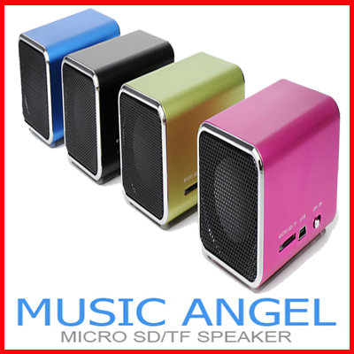 Music Angle MP3 Mini USB Speaker Micro SD/TF FM Radio