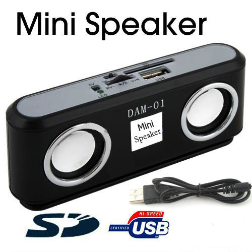 New Mini USB/SD/MMC Portable 3.5mm Speaker for iPod MP3