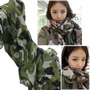 Celebrity OverSize Camouflage Print Scarf Pattern Scarves Wrap Army Green
