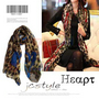 Classic Large Leopard Heart Shade Print Scarf Wrap Shawl - Blue Heart