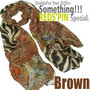 Fashion Zebra And Leopard Soft Large Long Scarf Shawl Wrap Stole-Brown