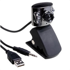 4.0M Pixels 6 LED Infrared Night Vision Webcam
