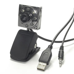 1.3M Pixels 8 LED Web Camera With Microphone